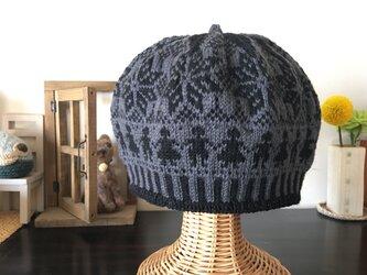 北欧トラディショナルベレー帽 【グリノアール】の画像
