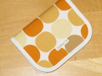 二つ折り財布★サークル柄(オレンジ)の画像