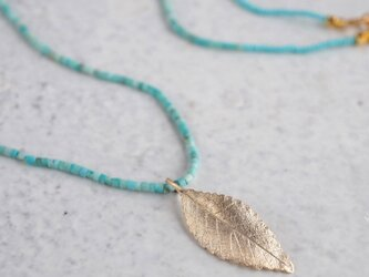 Elm leaf necklace {P082K10(NS)}の画像