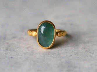 古代スタイル*天然グランディディエライト 指輪*9.5号 GPの画像