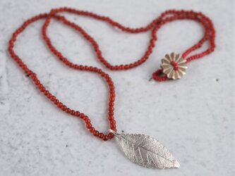 Elm leaf necklace {P082SV(NS)}の画像