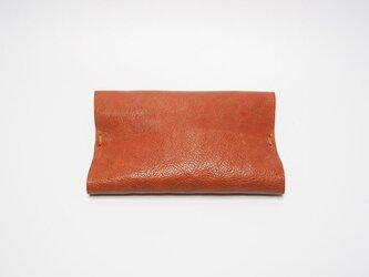 本革ポケットティッシュケース レザー 手縫い赤茶【受注製作】の画像