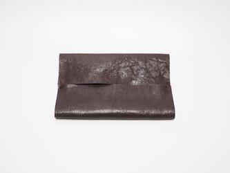 本革ポケットティッシュケース レザー 手縫いこげ茶【受注製作】の画像