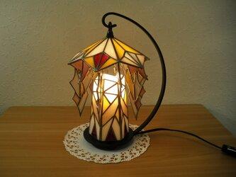 幾何学ランプ(ステンドグラス)の画像