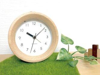 KATOMOKU alarm clock 6 ナチュラル km-89N 連続秒針 目覚まし時計の画像