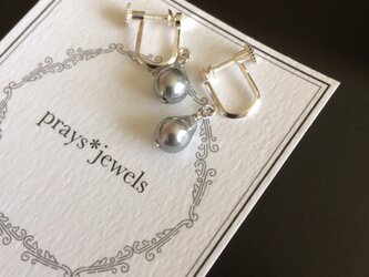 Silver925 Vintage baroque drop pearls earringsの画像