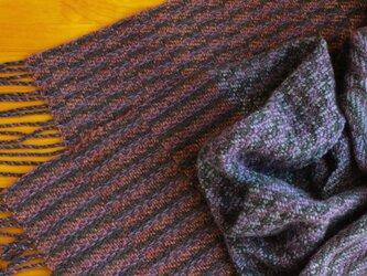 手織のストール 暮色(ぼしょく)の画像