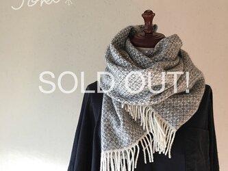 [bana様専用]手織りカシミヤショールグレー 他の方はご購入できませんの画像