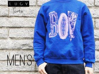 《Men's》BOYロゴ スウェット【ROYAL BLUE】の画像