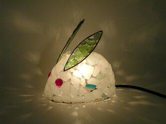 シーグラスランプ ちびうさぎのランプ-43の画像