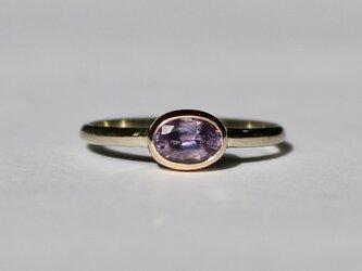 No heat Purple Sapphire ring / K10YG & WGの画像