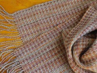 手織のストール 小麦(こむぎ)の画像