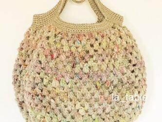 ミルフィオリのバッグ「綿菓子」の画像