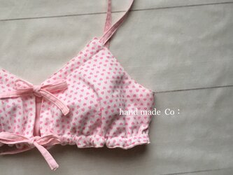 肩ひもフリー  楽ブラ *S〜Mサイズ Heart pink/1枚の画像