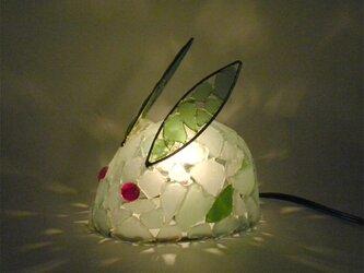 シーグラスランプ ちびうさぎのランプ-41の画像