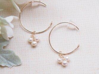 【再販】white flower #1(ピアス 14kgf)の画像