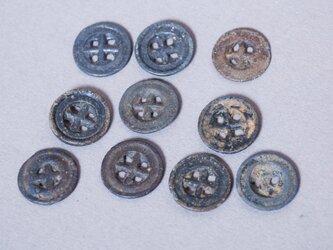 ヴィンテージ・メタルボタン 5点セット +*北欧アンティーク雑貨 & アルケミストの画像