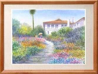 水彩画原画 庭園・港の見える丘公園の画像