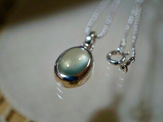 プレナイトのペンダント /  Prehnite Pendant With Silverの画像