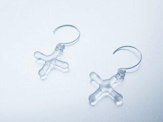 Cross Earring / SV925の画像