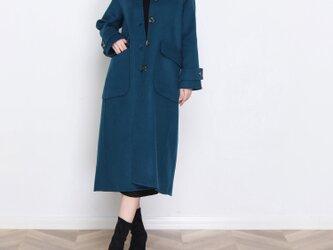 16色 手縫い カシミヤウール リバーシブル生地 ラグラン袖ロングコート☆オーダーメイド可<新作>の画像