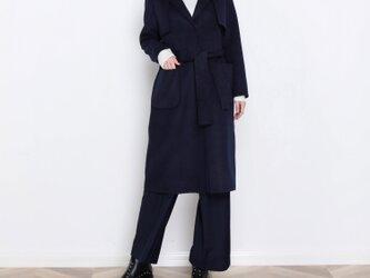 16色 手縫い カシミヤウール リバーシブル生地 ロングコート☆オーダーメイド可<新作>の画像