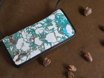 絞り染めLEATHERお財布bag-#green2-color《送料無料》の画像