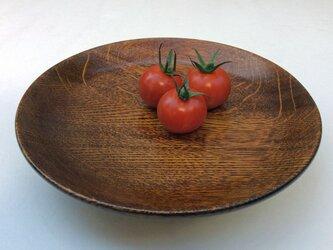 ナラの丸皿#536の画像