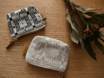 北欧手織りポーチ(黒)(小)の画像