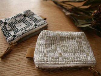 北欧手織りポーチ(グレー)(小)の画像