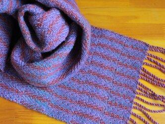 手織のマフラー 二藍(ふたあい)-1の画像