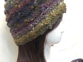 ★☆手編みのふんわりニット帽子〜カラフル♪☆★の画像
