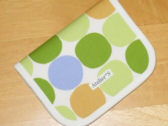 二つ折り財布★サークル柄(グリーン)の画像