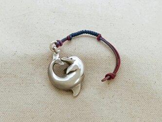 銀製の鈴 『 イルカ 』 (シルバー925) 根付・バッグチャームの画像