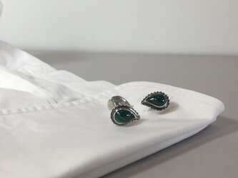malachite cufflinksの画像