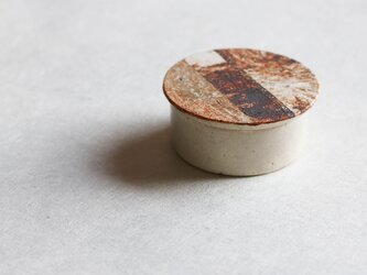土模様のハコ(白釉)(miniサイズ)(A)の画像