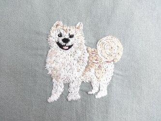 <展示品>秋田犬 オリジナル動物刺繍サンプルの画像