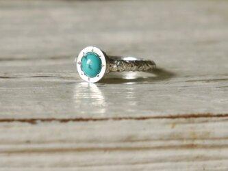 Turquoise ring(sv)★ターコイズ★シルバー★リング★誕生石★天然石★トルコ★ピンキーの画像
