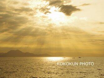 有明海の薄明光線「ポストカード5枚セット」の画像