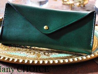 イタリアンレザー・帝王ブッテーロ・長財布2(グリーン)の画像