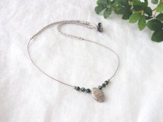 Silverleaf Short Necklace(green)の画像