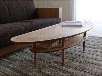 受注生産 北欧アンティーク ヴィンテージ風 ローテーブル センターテーブル パイン無垢集成材 サイズオーダー可の画像