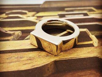 ユニセックス シグネチャー  シグネット リング 銀 指輪 レディース メンズの画像