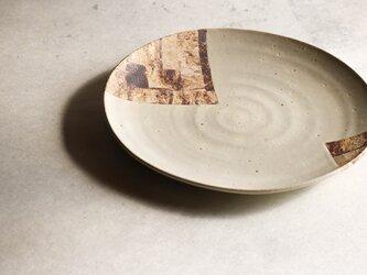 白釉尺皿の画像