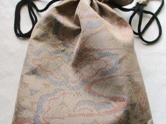 送料無料 色大島紬で作った巾着袋 3990の画像