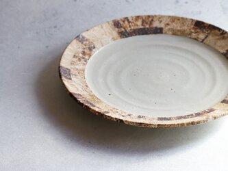白釉リム尺皿の画像