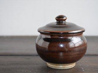 石州嶋田窯 [蓋つぼ 丸小_b(茶)]の画像