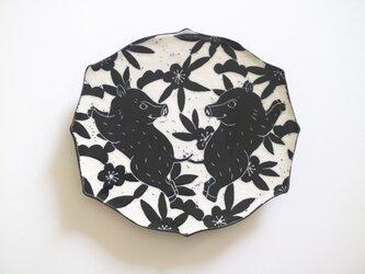イノシシ板皿の画像