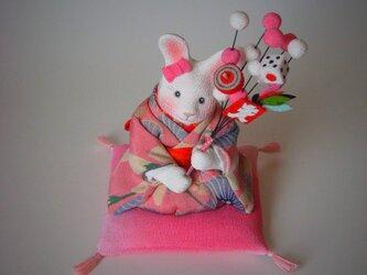 縮緬福兎 初春 の画像