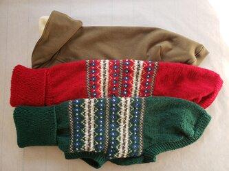 犬服 N様オーダーメイド品ウィペット用パーカー&セーターとサルーキ用セーターの画像